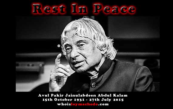 Dr. APJ Abdul Kalam Is No More