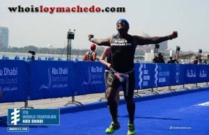 Loy Machedo at ITU Triathlon
