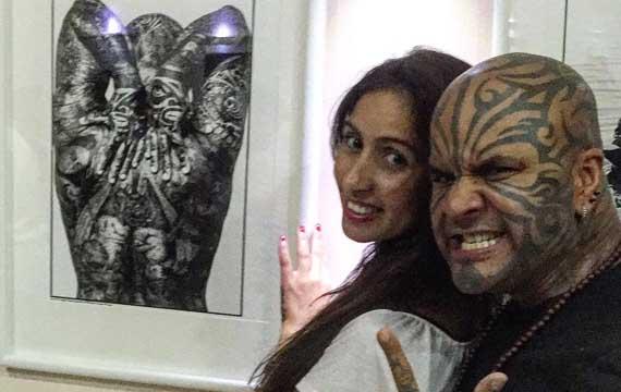 Loy Machedo at Eros Goze's Art Exhibition