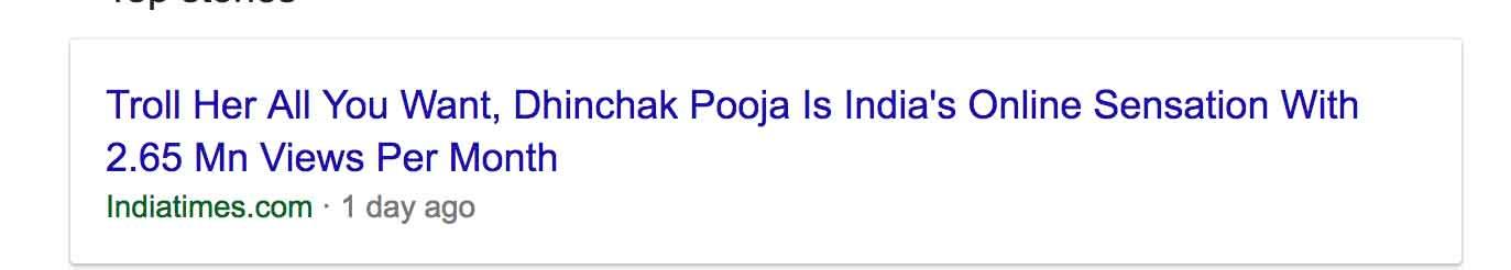 Dhinchak Pooja Google news