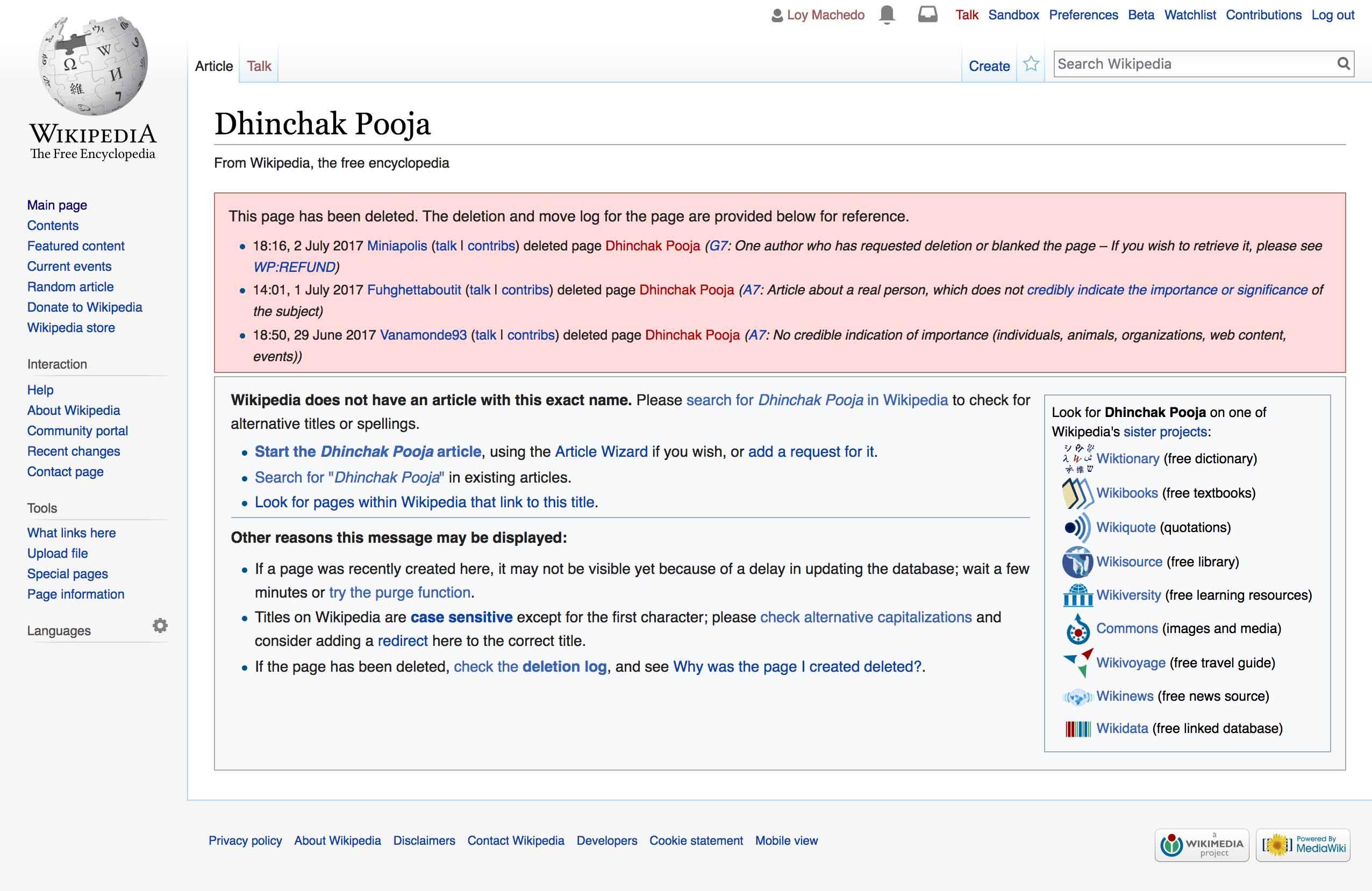 Dhinchak Pooja Wikipedia