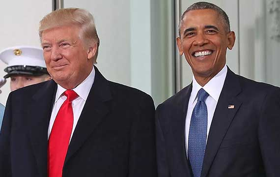 Barack Obama & Donald Trump